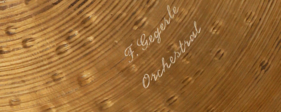 Frank Gegerle Cymbals Serie Orchestral 18-19-20